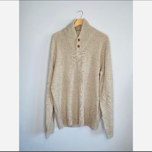 J.Crew Mens 100% Lambswool Sweater Pullover Tan